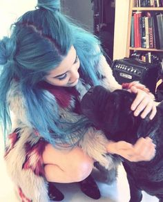 Halsey #color #halsey #hair #blue