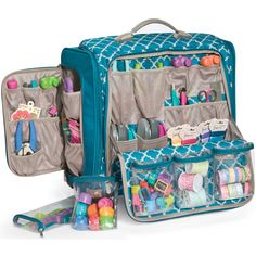 We R Memory Keepers Arts and Crafts Upright Spinner Tote Bag (aqua (Blue))