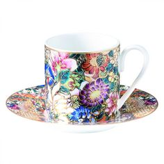 The Luxury Tableware Collection From Roberto Cavalli Home Features A  Gorgeous Floral Pattern Design And Gold