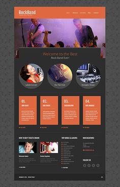 Rock band #website #template. #themes #business #responsive
