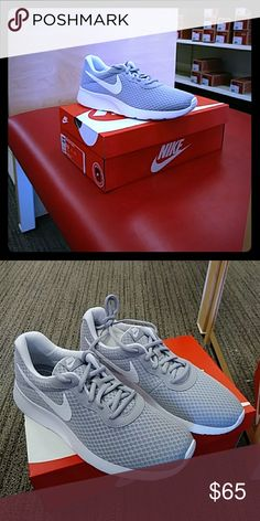 WMNS Nike Tanjun sneakers Brand new sneakers Nike WMNS Tanjun size: 10 M, 9.5 M 2- pair 2 pairs,  8 M 2-pairs,6.5 M. 2-pairs, 6M 2-pairs color: light  grey and white Nike Shoes Athletic Shoes