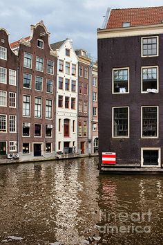 Canal houses in Amsterdam, Netherlands.