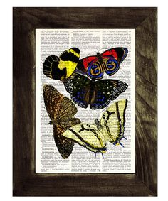 Butterflies Dictionary Book Print  Altered art on by PRRINT, $6.99