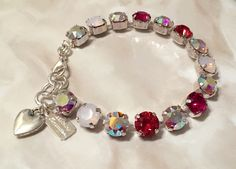 A personal favorite from my Etsy shop https://www.etsy.com/listing/264476579/swarovski-crystal-8mm-multi-pink-be-my