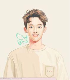 Immagine di Chen, exo, and fanart