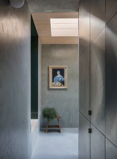 """Untitled House is a residential extension and renovation in Camberwell, London, by architecture studio Szczepaniak Astridge that centres around a """"concrete sculpture"""". Concrete, Townhouse Designs, Timber, House, Half Walls, Crittal Windows, House Styles, London House, Concrete Sculpture"""