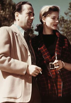 Bogey & Bacall ~ when they married, Humphrey Bogart was 45 and Lauren Bacall was barely 20.  This was his 4th marriage & her 1st.  They were married for 12 years, until his death ~ they had 2 children.