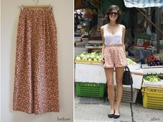 diy leopard shorts...need to go back to the thrift store, get a really ugly pair of nice pants, and cut them off like this! so cute