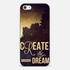 create the dream | Love! Personalize your case using Instagram, Facebook and personal photos on Casetagram. #Casetagram #iphonecase #typography
