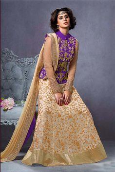 Purple Georgette Designer Suit