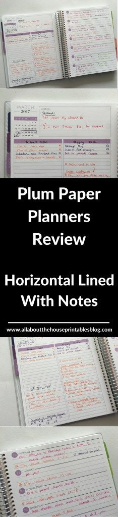 plum paper planners review horizontal lined with notes how to color code your planner plan wtih me weekly spread
