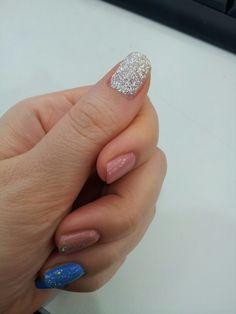 #silver#glitter#self nail#글리터#실버파우더#aqua blue#coral