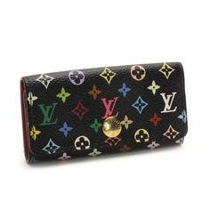 Louis Vuitton Multicles 4 Monogram Multicolore Other Black Canvas M93732