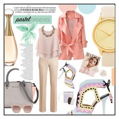 """Pastel Trench Coats"" by zarabatavia ❤ liked on Polyvore featuring Komono, Missoni, Sophia Webster, Chicwish, Christian Dior, Cara, STELLA McCARTNEY, shu uemura, women's clothing and women's fashion"