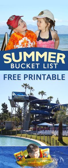 Free printable summer bucket list.  Print out from your home computer and have your kids or students fill it out before Summer break!