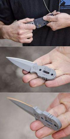 Tops Knives Knox Mini EDC Fixed Defense Neck Knife Fixed Blade