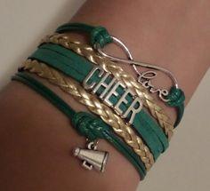 Cheer bracelet Infinity love Bracelet Cheerleader by SummerWishes