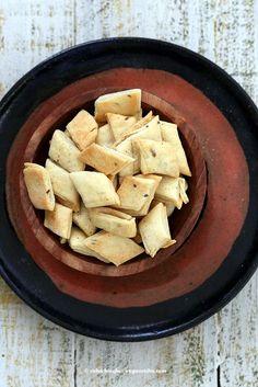 Maida Papdi - Cumin Spiced Crackers - Vegan Richa