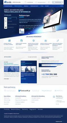 rewords website by Bartlomiej Cwikalowski, via Behance