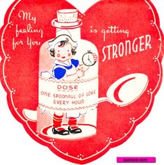 Funny Medicine Valentines. Vintage Valentine Card.  suzilove.com