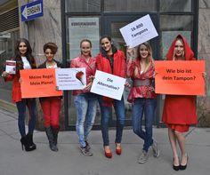 Breaking the bloody taboo in Vienna :  )  Meine Regel. Mein Planet. Wie bio ist dein Tampon?  Nachhaltige Frauenhygiene im Mainstream!  www.erdbeerwoche.com Dresses, Fashion, Sustainability, Woman, Gowns, Moda, La Mode, Dress, Fasion