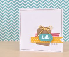 Silhouette Blog: Thursday's Sketch :: Hello Card... and a challenge!