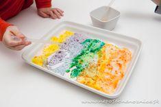 Ďalší pokus pre milovníkov experimentovania. :) Budeme potrebovať sódu bikarbónu, práškovú farbu na vajíčka a plytkú nádobu. ...