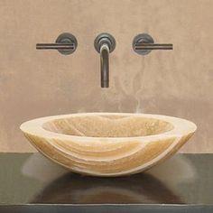 Terra-Acqua�Montecito Crema Marfil Natural Stone Round Vessel Sink