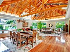 LHM Hawaii - Situated on an oversized lot of 16,125 sf and steps from sandy beach, this fabulous mini estate built in 2007, with private guest cottage remodeled in 2007, has every amenity. The seamless design flowing around the resort style pool and spa connects the dramatic great room, dream kitchen and cozy family room. It includes 5 spacious bedrooms and four and one half luxurious baths with high ceilings, skylights, custom transoms windows and pocketing walls of doors...