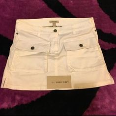 BURBERRY SKIRT!!! USED TWICE ... REALLY NEW...CASH OR 💕WELCOME TRADES 💕 Burberry Skirts Mini