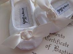 Ivory christening baptism baby girl shoes