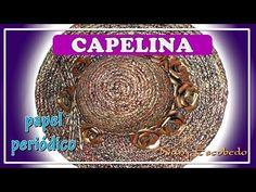 CAPELINA CON PAPEL PERIÓDICO - YouTube