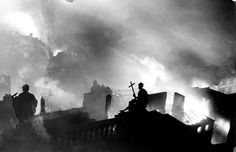 From the Dome of St. Paul's Cathedral During One Night of the Blitz, Dec. 29th, 1940.