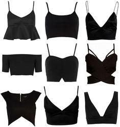 Crop Tops & Bralets (Victoria Törnegren) - Cropped - Ideas of Cropped - Crop Tops & Bralets Look Fashion, Diy Fashion, Ideias Fashion, Fashion Outfits, Fashion Design, Fashion Trends, Origami Fashion, Fashion Black, Ladies Fashion