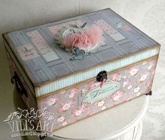 Baby treasure box Mo Manning, Treasure Boxes, Decoupage, Decorative Boxes, Scrap, Pencil, Handmade, Digital, Home Decor