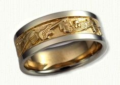 A Music Themed Wedding Band with Guitars and Music Notes