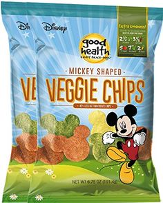 Disney Mickey Mouse Shaped Veggie Chips Childrens Healthy Snacks 675 Oz 2 * Read more  at the image link.