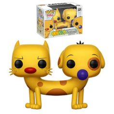 Your Pop! Vinyl Figure collection is about to get a blast from the past! From the golden era of Nickelodeon cartoons comes Catdog! This Catdog Pop! Vinyl Figure measures approximately 3 tall and comes packaged in a window display box. Funko Pop Dolls, Funko Toys, Funko Pop Figures, Vinyl Figures, Action Figures, Animation, Funk Pop, Pikachu, Nickelodeon Cartoons