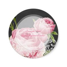 """PixDezines chalkboard and vintage roses illustrated by Pierre Redoute with rococo...   Easy customizable.  DIY fonts and fonts color as well.  <a href=""""http://pixdezines.com/wedding_color_wheel.html""""  TARGET=""""_blank"""">{♥}Click for Dynamic Color Wheel{♥}</a><br><a href=""""http://www.zazzle.com/pixdezines+chalkboard?rf=238522335502586196"""">{♥}Chalkboard Collections by PixDezines{♥}</a><br><a href=""""http://www.zazzle.com/custom_labels*"""">{♥}Labels Storefront by PixDezines{♥}</a> <br><embed ..."""