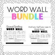 This Bundle includes my Sound Spelling Word Wall for all elementary classrooms and spelling instruction AND my Prefixes, Suffixes, Latin and Greek Roots Word Wall for vocabulary instruction. Vocabulary Instruction, Spelling Words, Prefixes, Writing Activities, Teaching Tools, Roots, Greek, Language, Classroom