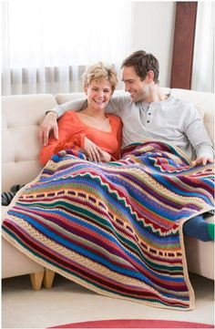 Southwest Sunset Crochet Blanket | AllFreeCrochetAfghanPatterns.com