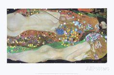 Gustav Klimt - Wasserschlangen II order at discounted prices! Gustav Klimt, Framed Artwork, Wall Art Prints, Poster Prints, Art Nouveau, Frames For Canvas Paintings, Affordable Wall Art, Reproduction, Cool Posters