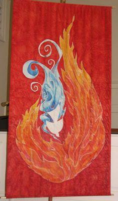 Pentecost Banner -- GalleryJudy Kushner Art Designs | Works of Art on Silk |