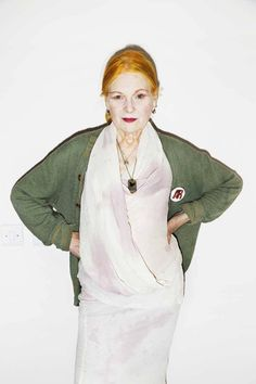 Vivienne Westwood: 'You have a more interesting life if you wear impressive clothes'. Yeah you do, ha