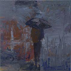 https://flic.kr/p/D44non | LLL Día de lluvia en azules_ acrílico sobre tela 13X13 cm | No disponible/ No available