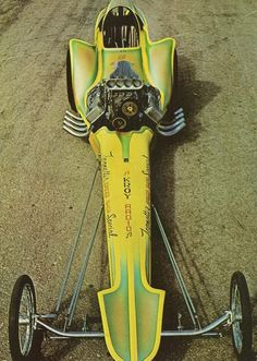 Old School Dragster with great paint & body panels