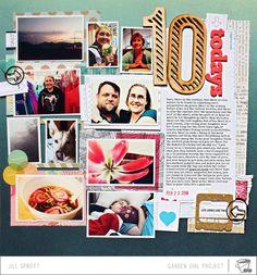 Capture: 10 Todays by Jill Sprott Jones Jones alissa Peas in a Bucket Scrapbook Supplies, Scrapbook Paper, Scrapbooking Ideas, Mini Albums, This Magic Moment, Multi Photo, 6 Photos, Creative Memories, Scrapbook Page Layouts
