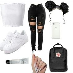 Swag Outfits For Girls, Cute Lazy Outfits, Cute Swag Outfits, Teenage Girl Outfits, Teen Fashion Outfits, Teenager Outfits, Dope Outfits, Girly Outfits, Summer Outfits