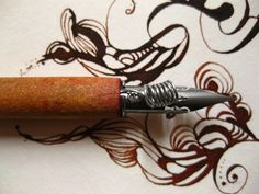 gentian:ink:calligraphy:nib:pen