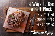9 Ways to Use a Himalayan Salt Block in Your Kitchen  We've loved himalayan salt lamps for years now and use them to naturally clean our indoor air. Did you know you can use a himalayan salt block for amazing grilled steaks and vegetables, to cure meats, serve foods and even make delicious desserts?!